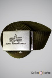Pasek materiałowy z metalową klamrą Alpha Industries Moro