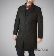 Płaszcz Crombie Warrior Clothing 3/4 Overcoat Czarny