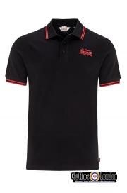 Polo LONSDALE LONDON BRIDLINGTON czarno-czerwona