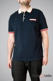 Koszulka Polo Merc London Fenwick Granatowa