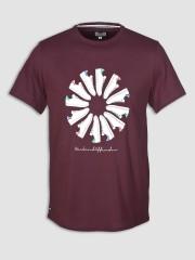 T- Shirt WEEKEND OFFENDER TRAINER WHEEL bordowy