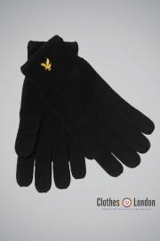 Wełniane rękawiczki Lyle and Scott Racked Czane