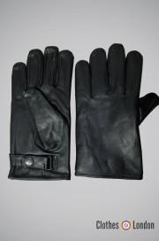 Rękawiczki skórzane Max Fuchs Czarne