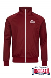 Rozpinana bluza Track Top LONSDALE LONDON CALSHOT Bordowa