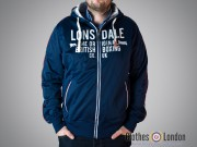 Rozpinana bluza z kapturem Track Top Lonsdale London Sawbridgeworth Granatowa