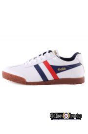 Skórzane buty GOLA HARRIER LEATHER Białe / Granatowe / Czerwone