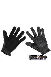 Skórzane rękawiczki z ochraniaczami MAX FUCHS Buckskin czarne