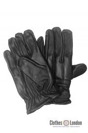 Skórzane rękawiczki z ochraniaczami MAX FUCHS czarne