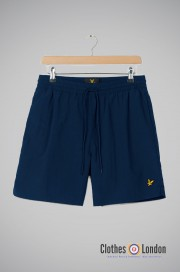 Szorty LYLE & SCOTT PLAIN SWIM SHORT granatowe