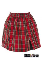 Spódnica w szkocką kratkę Harrington czerwona