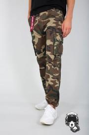 Spodnie bojówki ALPHA INDUSTRIES Jet Moro Woodland
