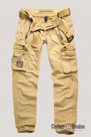 Długie spodnie bojówki SURPLUS ROYAL TRAVELER Slimmy Beżowe