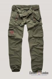 Długie spodnie bojówki SURPLUS ROYAL TRAVELER Slimmy Oliwkowe