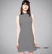 Sukienka Pop Butique Beatnik Dress Biało/ Czarna