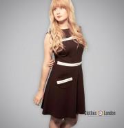 Sukienka Pop Butique Circle Pocket Dress Czarna