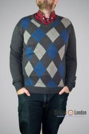 Sweter Warrior Agryle Szaro-Niebieski
