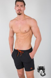 Szorty do pływania ALPHA INDUSTRIES BASIC Swim Short czarne