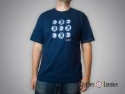 T-shirt Lambretta Trojan Records Logos Granatowy