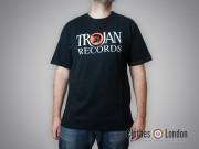 T-shirt Lambretta Trojan Records Logo Czarny