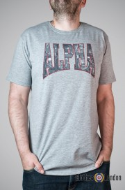T-shirt Alpha Industries Photo Print Szary