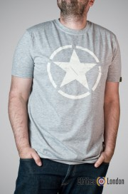 T-shirt Alpha Industries Star Szary