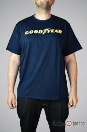 T-shirt Goodyear Logo Granatowy