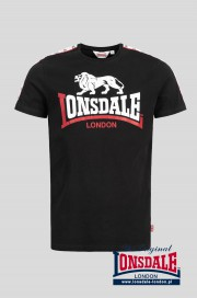 T-shirt LONSDALE LONDON BATTERSEA czarny