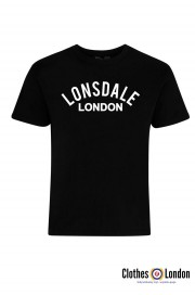 T-shirt LONSDALE LONDON BRADFIELD Czarna