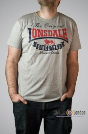 T-shirt Lonsdale London Corrie Szary