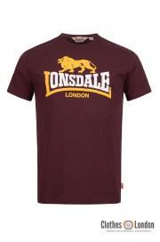 T-shirt LONSDALE LONDON HOLMPTON Bordowa