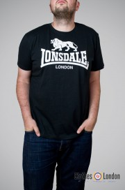 T-shirt  LONSDALE LONDON LOGO Czarny