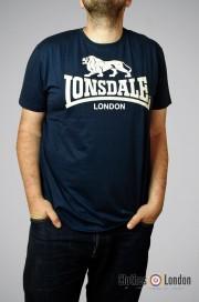 T-shirt LONSDALE LONON LOGO Granatowy