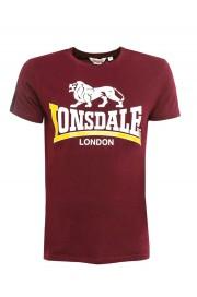 T-shirt LONSDALE LONDON PARSON bordowa