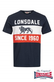 T-shirt LONSDALE LONDON SOUTHWORLD granatowy
