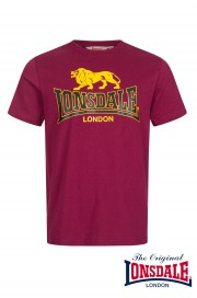 T-shirt LONSDALE LONDON TAVERHAM Bordowa