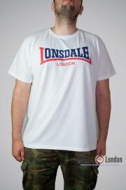 T-shirt Lonsdale London Two Tone Biały