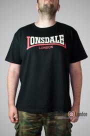 T-shirt Lonsdale London Two Tone Czarny