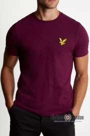 T-shirt LYLE & SCOTT ATTAQUER Bordowy
