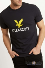 T-Shirt LYLE & SCOTT NEW LOGO Czarna