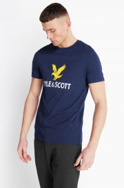 T-Shirt LYLE & SCOTT NEW LOGO Granatowa