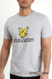 T-Shirt LYLE & SCOTT NEW LOGO Szara