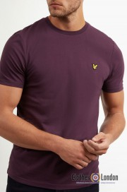 T-Shirt LYLE & SCOTT CREW NECK Fioletowy