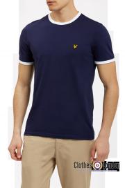 T-Shirt LYLE & SCOTT RINGER Granatowa