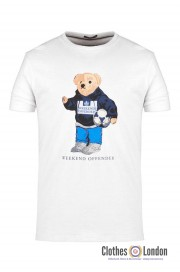 T-shirt WEEKEND OFFENDER BEAR Biały