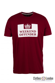T-shirt WEEKEND OFFENDER PRISON Bordowa