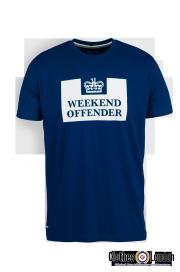 T-shirt WEEKEND OFFENDER PRISON Ciemnoniebieska
