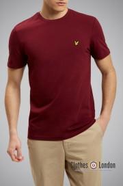 T-shirt Lyle & Scott Crew Neck Bordowy
