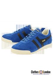 Zamszowe buty GOLA HARRIER CASUAL TRAINERS niebieskie