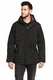 Parka z kapturem HARRINGTON JIMMY czarna