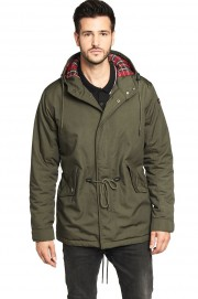 Parka z kapturem HARRINGTON JIMMY Oliwkowa